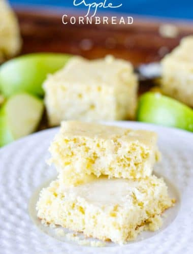 slices of apple cornbread