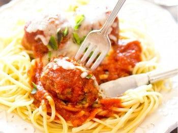 Here's a recipe for classic, Homemade Italian Meatballs. Serve them for dinner topping a plate of spaghetti and send the leftovers with your kids for lunch to make a meatball sub sandwich.