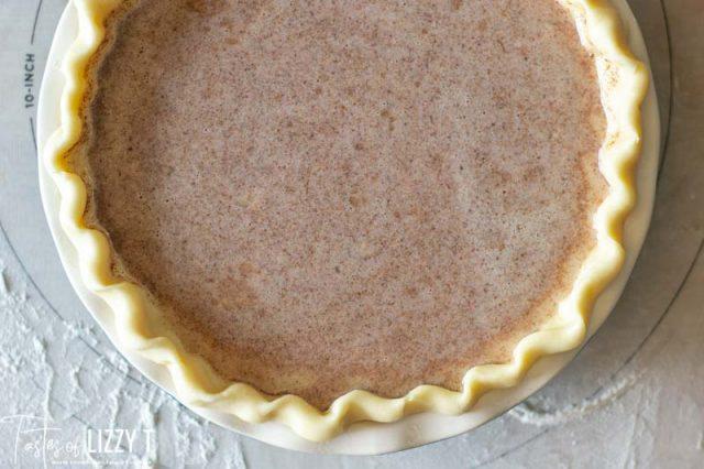 unbaked apple butter pie