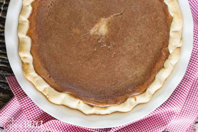 pie made with apple butter