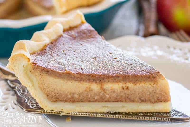 apple butter pie on a plate