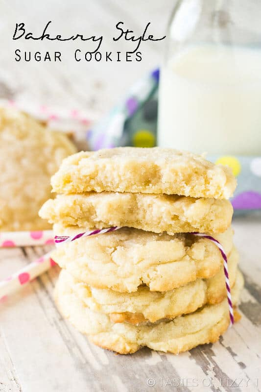 Bakery Style Sugar Cookies - Tastes of Lizzy T's