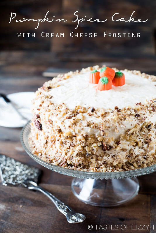frosting pumpkin spice layer cake with caramel cream cheese frosting ...