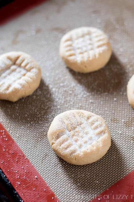 Everyone needs a classic, old-fashioned peanut butter cookie recipe. Make bakery-style, soft peanut butter cookies at home with this simple recipe.
