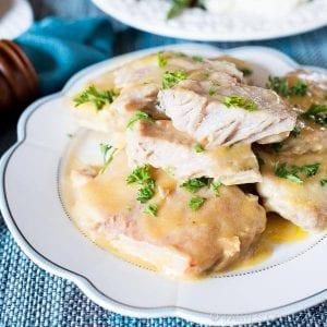 pork chops with chicken gravy