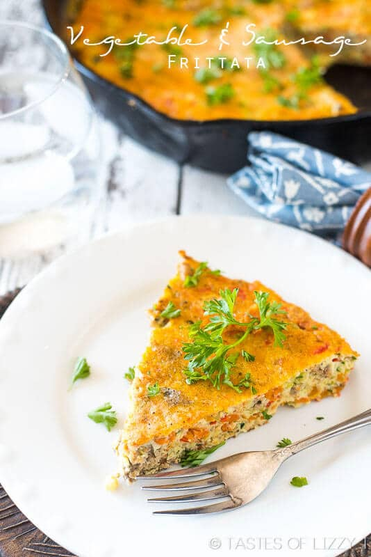 Learn how to make a frittata! This healthy, vegetable and sausage frittata is paleo, gluten free, sugar free and dairy free. Whole30 approved breafkast!