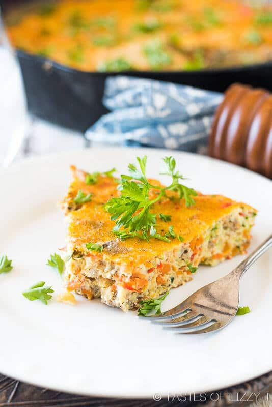 how to make a frittata! This healthy, vegetable and sausage frittata ...