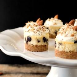 Almond Chocolate Chip Mini Cheesecakes