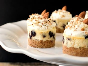 Almond Chocolate Chip Mini Cheesecakes