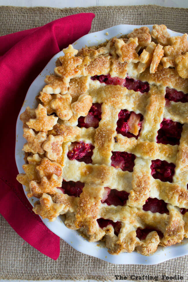 Pear Cranberry Pie Recipe With A Double All Butter