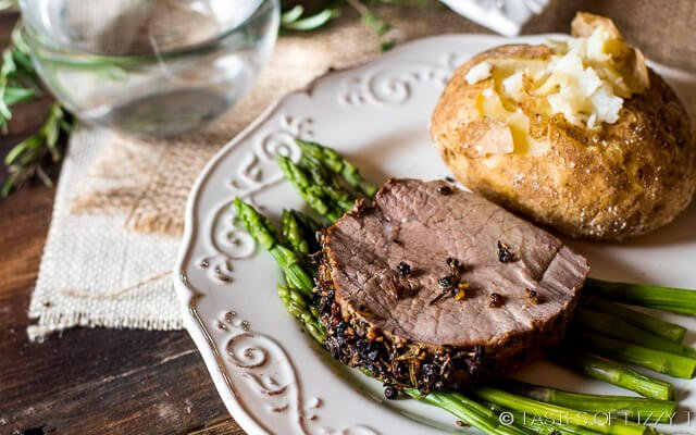 Garlic Herb-Crusted Roast Beef - Tastes of Lizzy T
