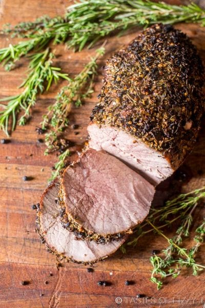 Garlic Herb-Crusted Roast Beef