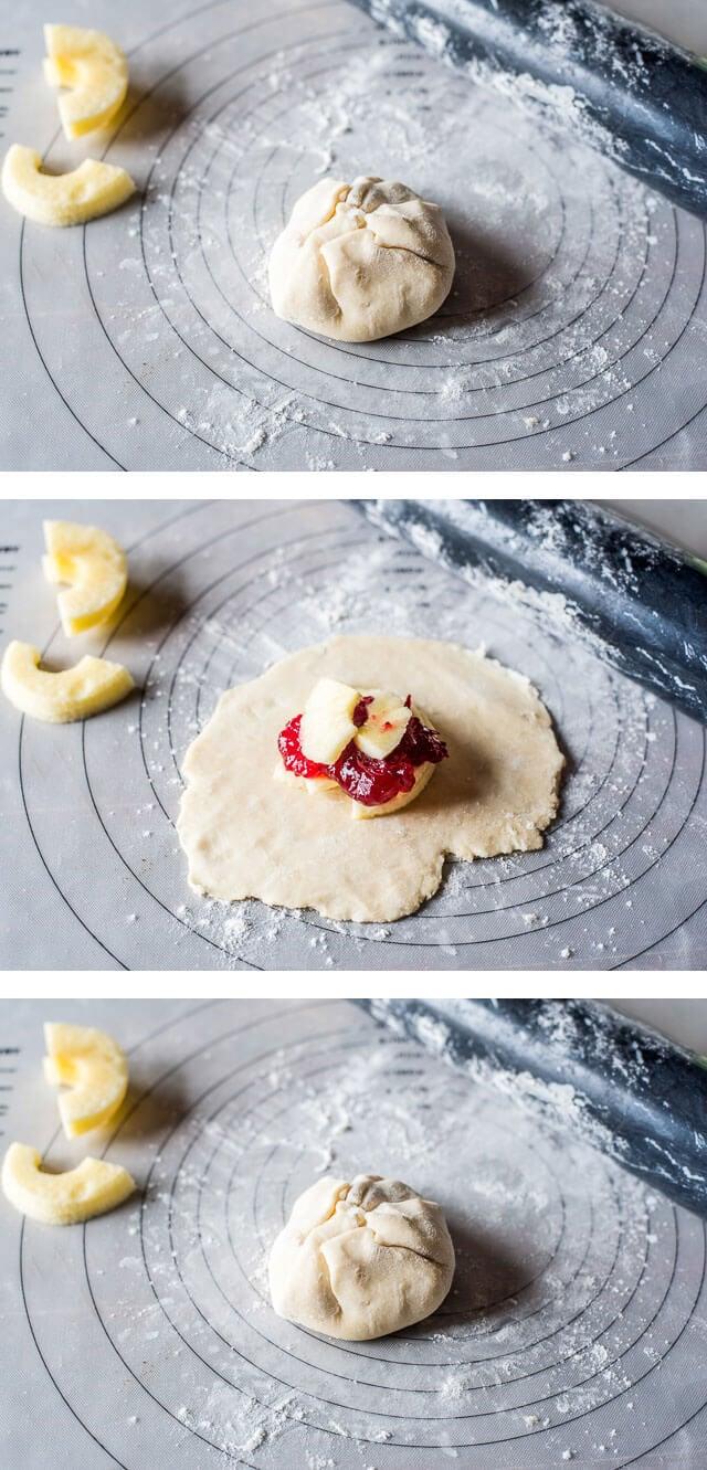 Cranberry Apple Dumplings Recipe With Homemade Dough And