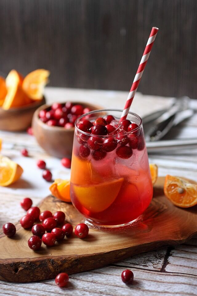 Cranberry Tangerine Fizzy Drink Recipe