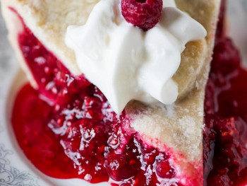 Baked Red Raspberry Pie