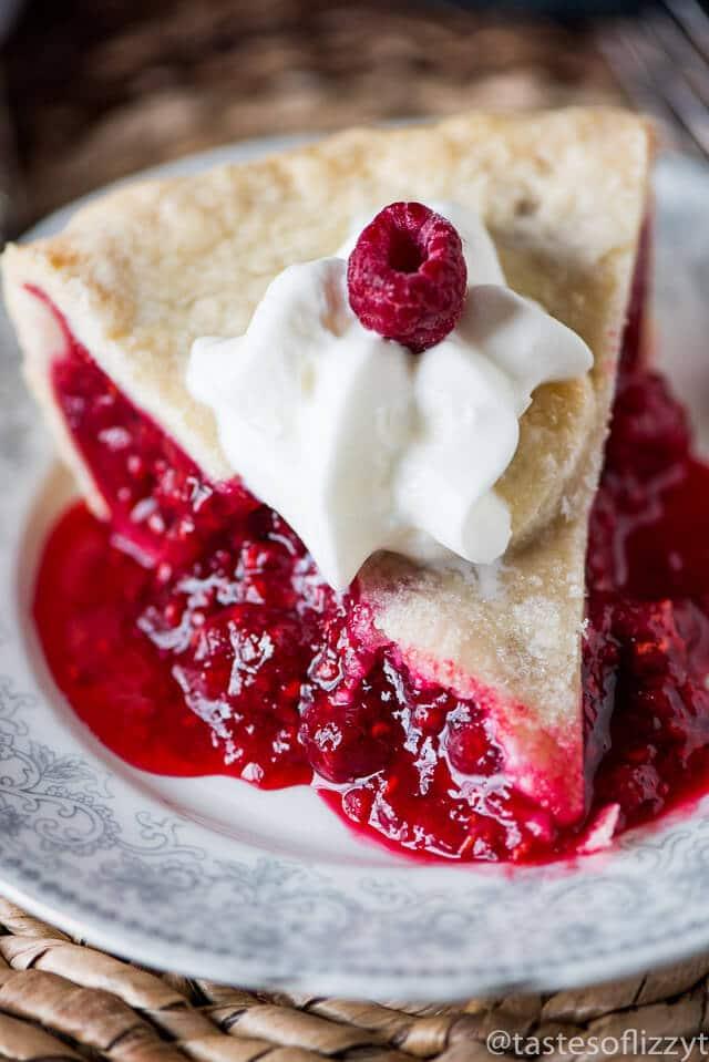 Raspberry Pie {Baked Red Raspberry Pie Recipe with Fresh ...