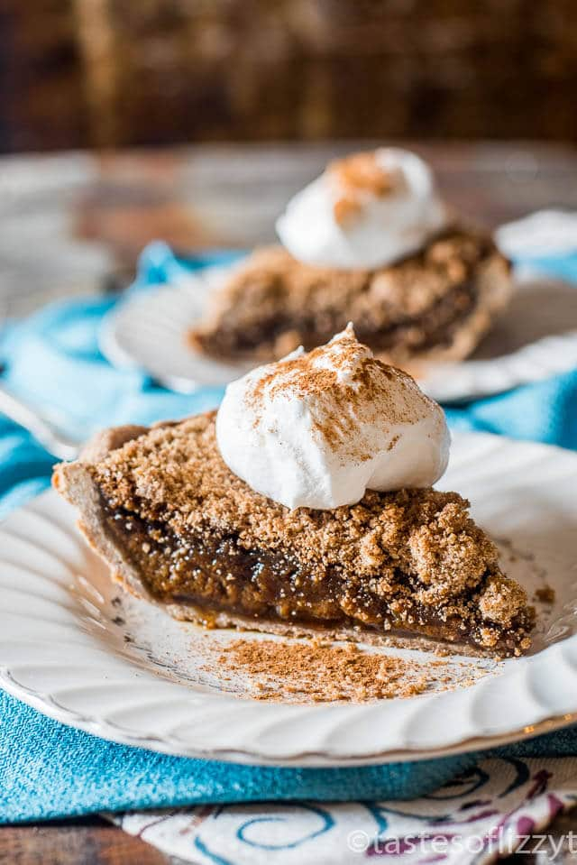 Quakertown Molasses Crumb Pie is an old-fashioned recipe that is similar to shoo-fly pie. Rich, gooey molasses filling baked with a crumb topping.