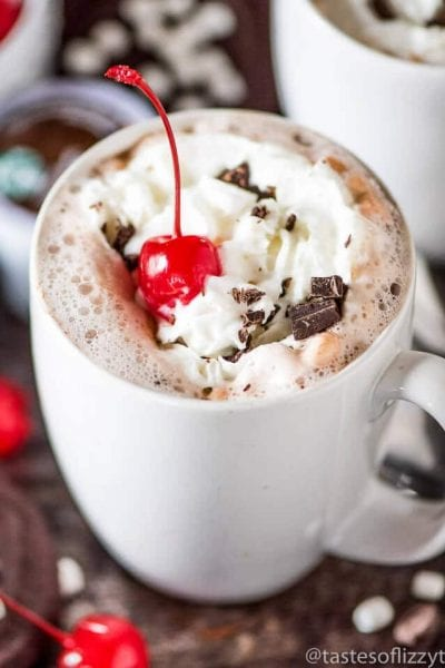 Chocolate Covered Cherry Hot Chocolate