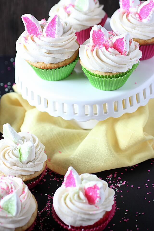 Orange Vanilla Bean Easter Bunny Cupcakes