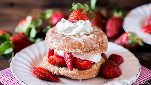 Donut Strawberry Shortcake - Tastes of Lizzy T