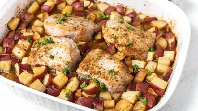 Pork chop potato bake
