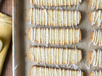 Cardamom Lemon Biscotti with Glaze