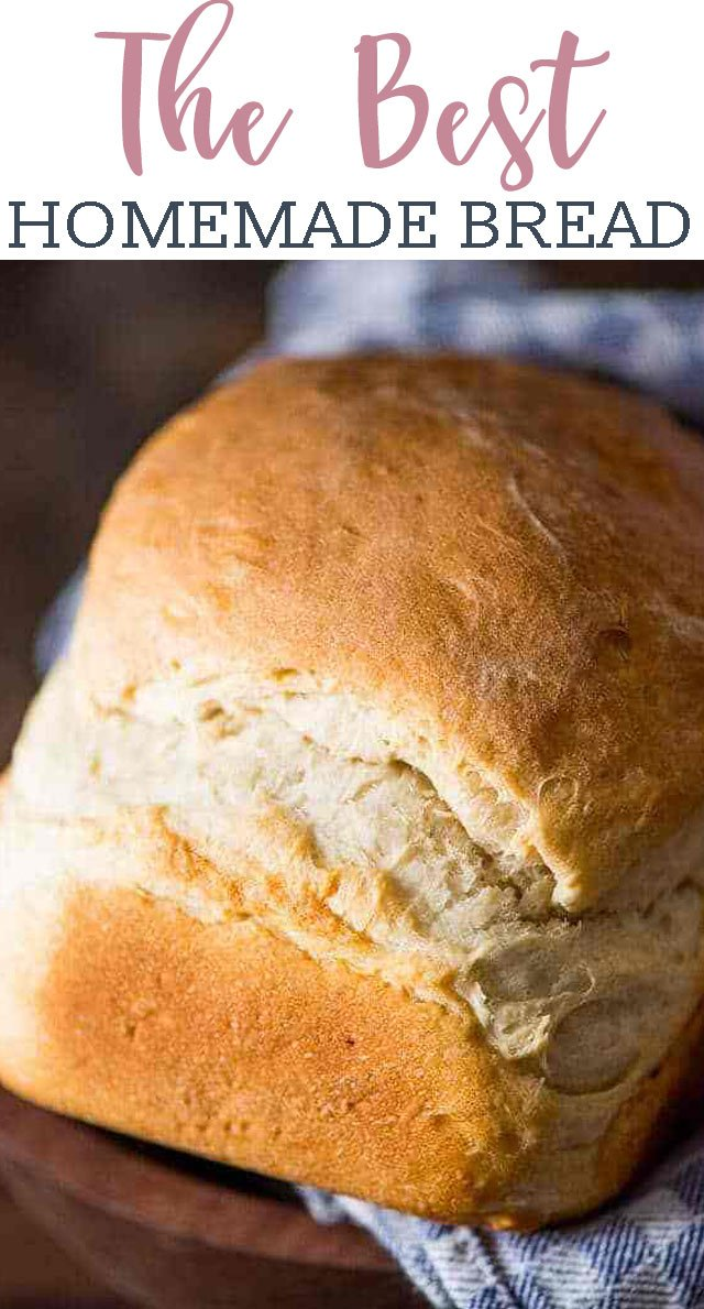 My grandma's easycountry white bread recipe. This is a thick, rustic bread with perfect texture and flavor. Make in the bread machine orin the oven. via @tastesoflizzyt