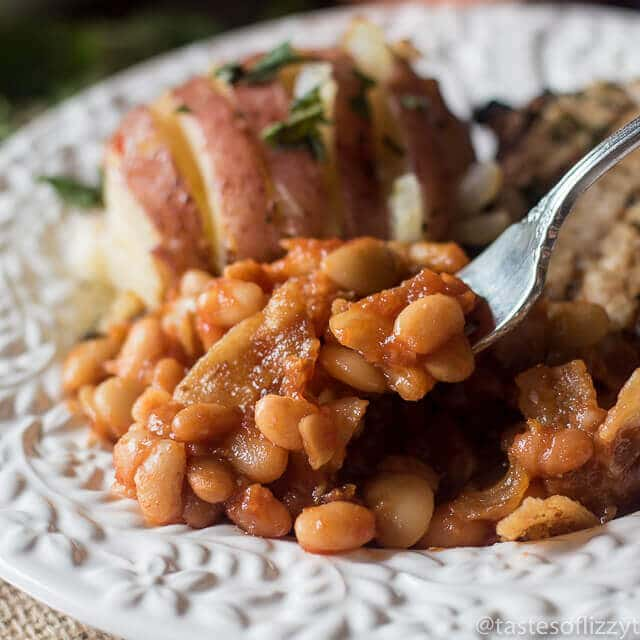 Just 8 ingredients make up this homemade Three Bean Baked Beans casserole. It's a perfect side dish recipe for your picnic or potluck. And...bacon!