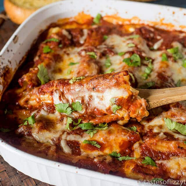 Homemade Three Cheese Manicotti Italian Casserole
