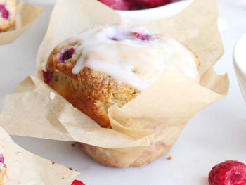 Lemon Poppy Seed Raspberry Muffins