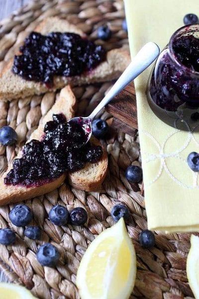 Blueberry Lemon Refrigerator Jam