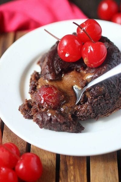 Molten Lava Cake Recipe with Chocolate Covered Cherries