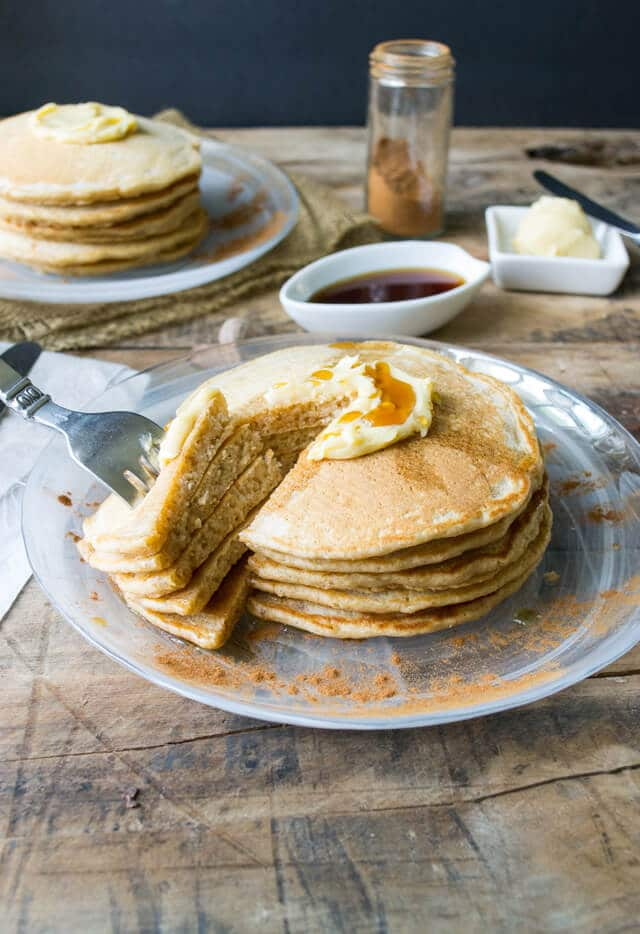 whole wheat cinnamon pancakes with maple butter whole wheat cinnamon ...
