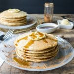 Whole Wheat Cinnamon Pancakes