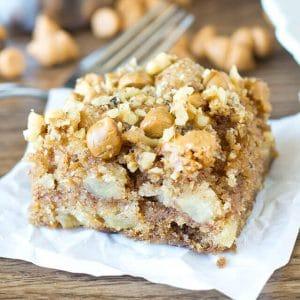 slice of apple butterscotch snack cake