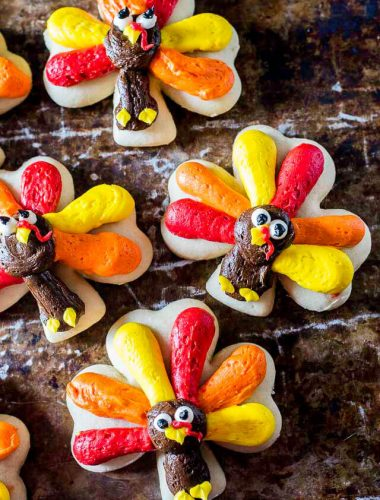 Turkey Cookies for Thanksgiving