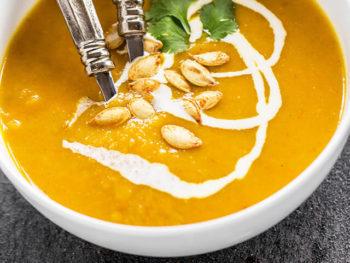 Pumpkin Apple Carrot Soup