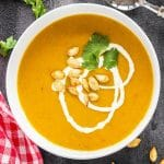 pumpkin soup with apple
