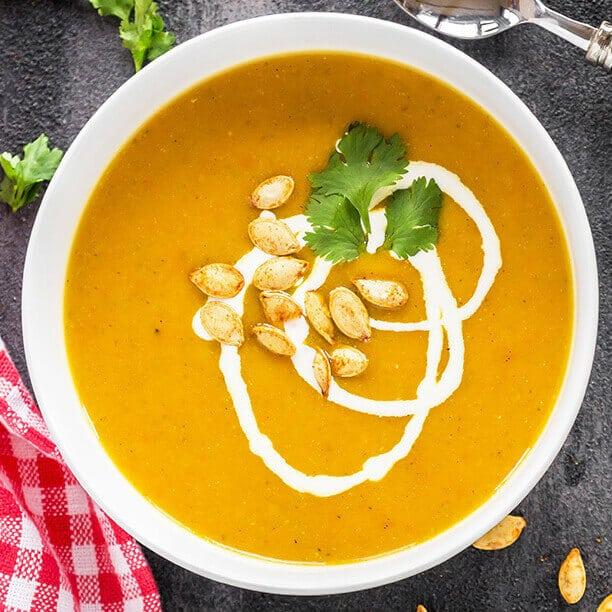 pumpkin carrot apple soup