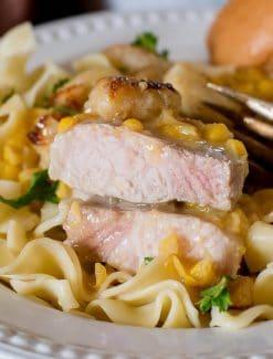 cream corn pork chops casserole