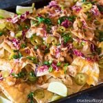 sweet and spicy baked nachos