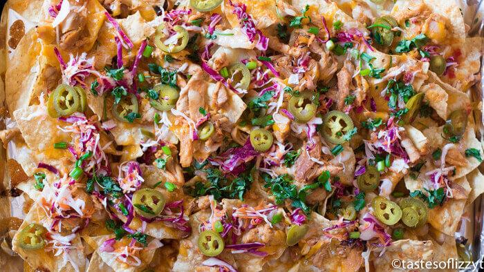 Firecracker Chicken Nachos Recipe {Slow Cooker Sweet & Spicy Chicken}