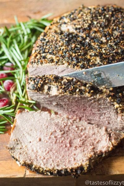 Peppercorn Sirloin Roast Beef