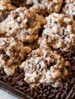Angel Cookies {Chocolate & Pecan -- Gluten Free & 4 Ingredients}