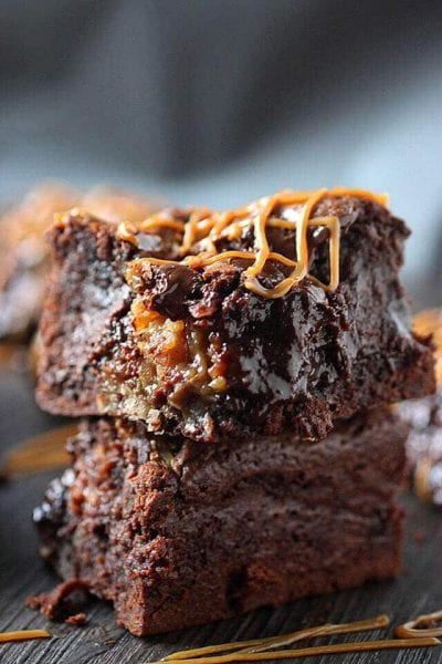 Coconut Dulce de Leche Brownies