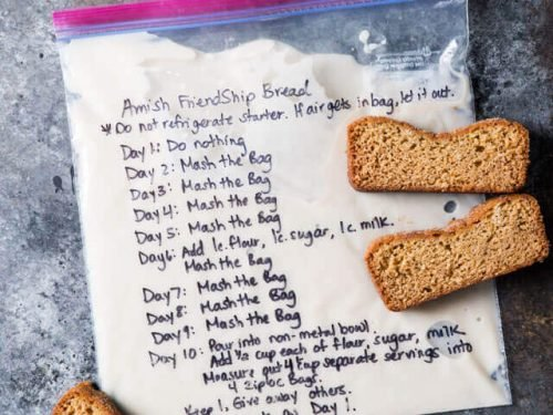 Amish Friendship Bread Starter Recipe Hints For Storing And Using
