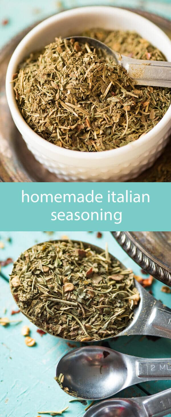 homemade italian seasoning / homemade spice mix / homemade seasoning recipe / bulk spice mix / italian food / parsley / marjoram / savory