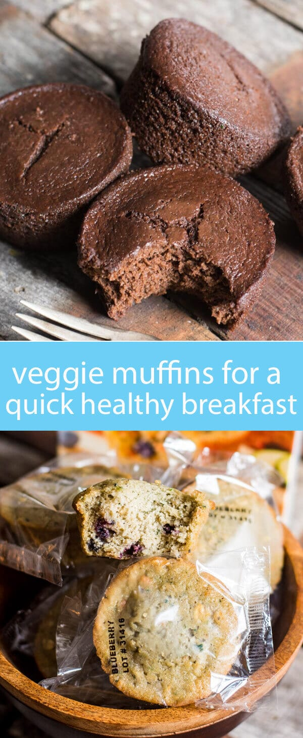 chocolate veggie muffins / hidden veggie muffins / healthy muffins / muffins with zucchini and carrots / easy healthy breakfast idea