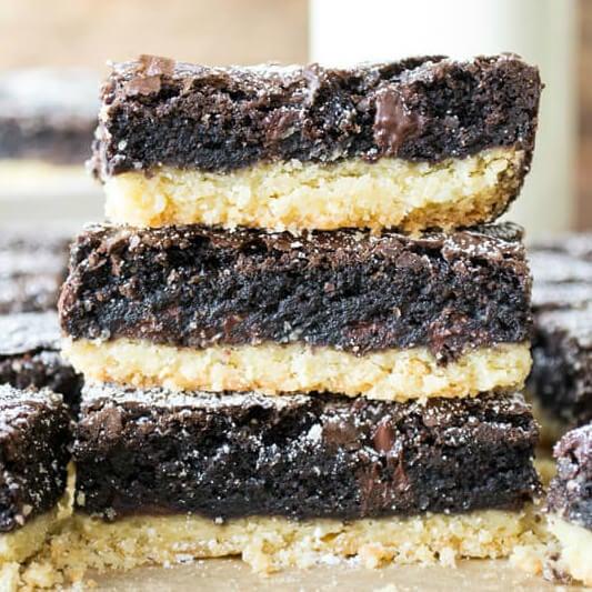stack of 3 Brownie Pie Bars