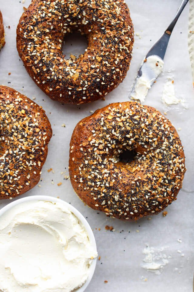 Whole Wheat Everything Bagels
